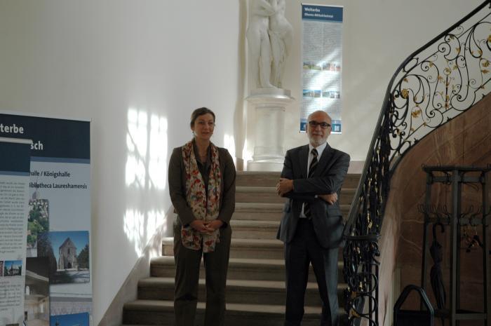 Frau Ofenloch und Herr Prof. Weiß